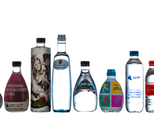 Botellas de agua con tu logo, marca o diseño