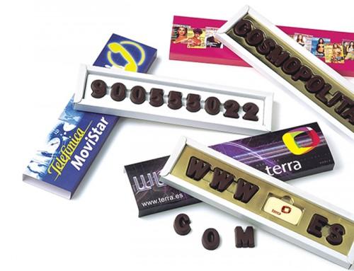 Caja de letras de CHOCOLATE